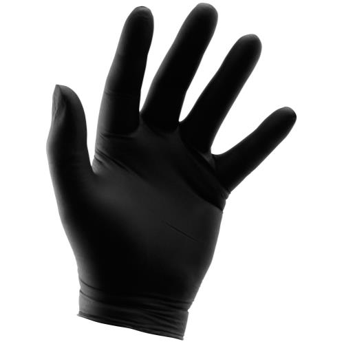 Grower's Edge Black Powder Free Nitrile Gloves 6 mil - XX-Large (100/Box)