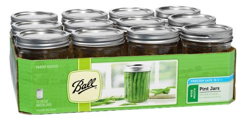 Ball Jars Wide Mouth Pint (12/Cs)