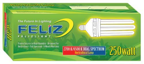Feliz Dual Spectrum Fluorescent 250 Watt (12/Cs)
